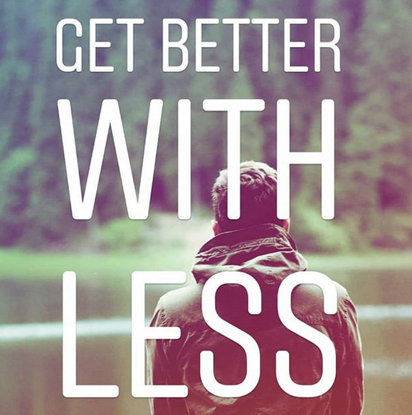 Get Better with Less